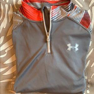 UnderArmour 'heatgear' long sleeve zip jersey. YXL